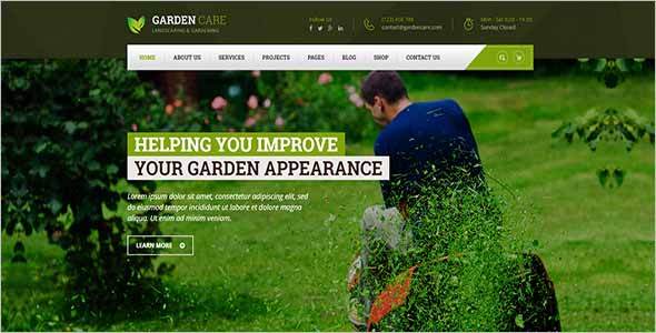 Landscape Garden Website Theme1