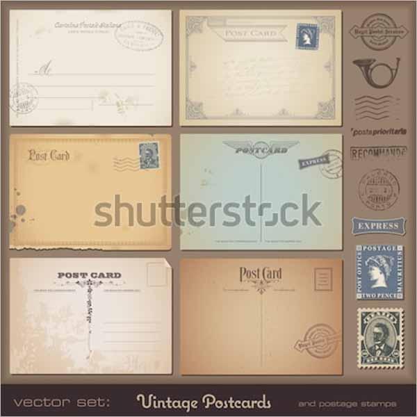 Large Vintage Postcard Design