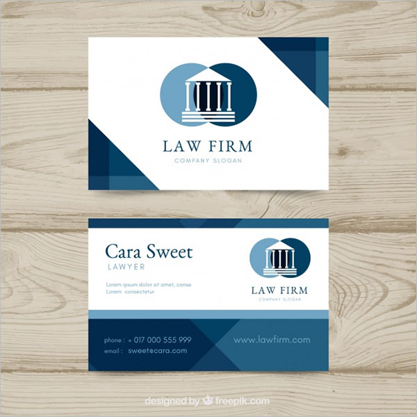 Law Fire Company Business Card
