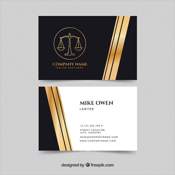 Law and Justice Business Card