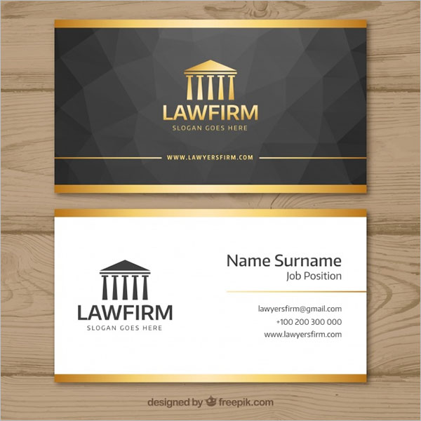 Lawyer Business Card Template Free Vector