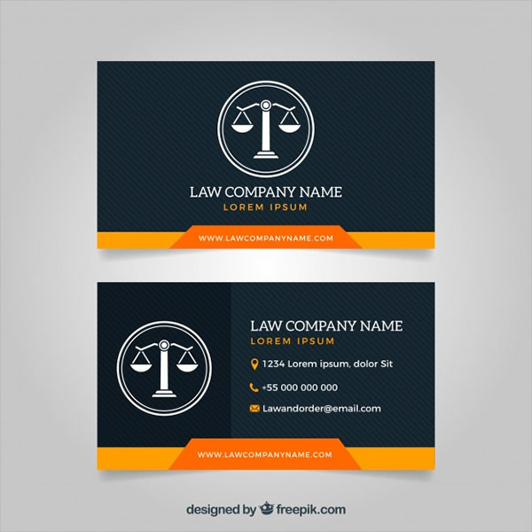 Lawyer Business Cards Vector Free