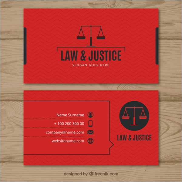 Legal Professional Business Cards Design