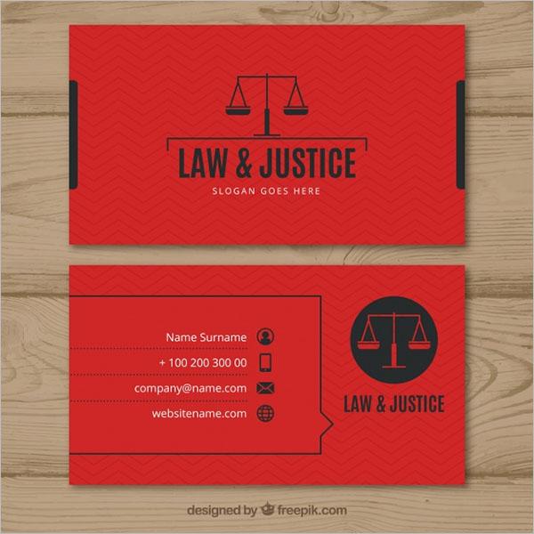 Legal Professional Business Cards Design