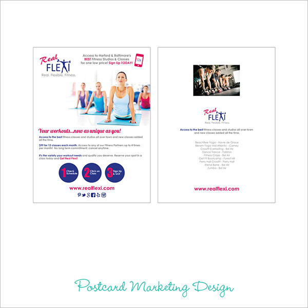 Marketing Postcard Design Example