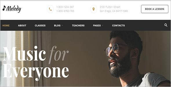 Melody Music School Website Template