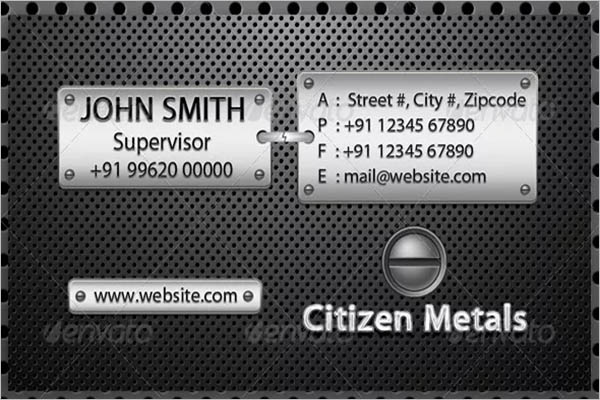 Metal Business Card Design Maker