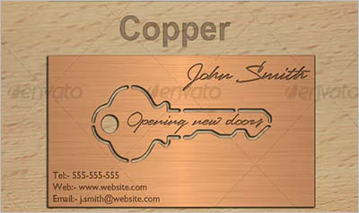 Metal Key Business Card Design
