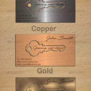 Metal Key Business Card Designs