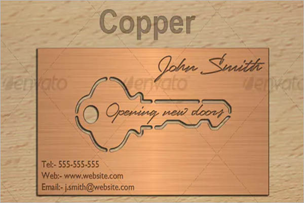 Metal Look Business Card Design
