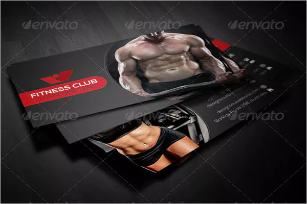 Minimal Fitness Business Card Design