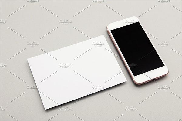 Modern Blank Postcard Design