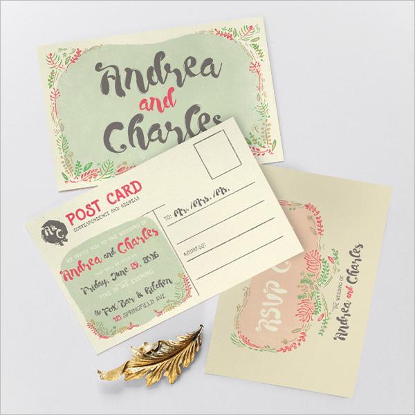 Modern Flower Card Design