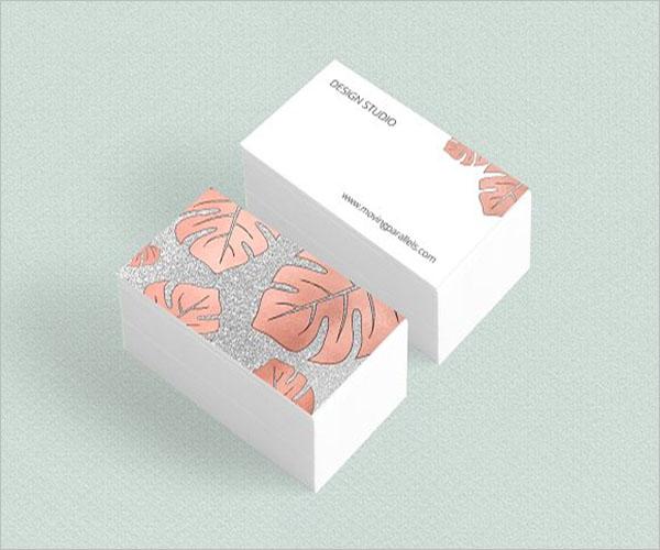 Modern Rose Gold Business Card