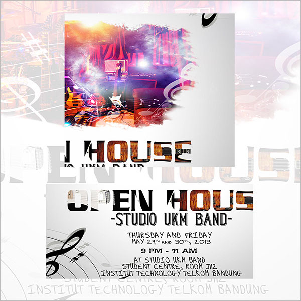 Music Open House Flyer Design