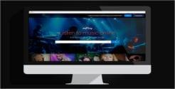 Music Social Network PSD Website