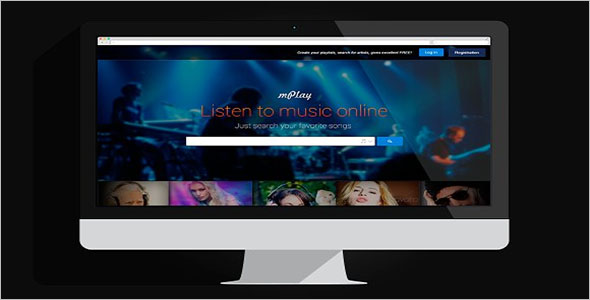 Music Social Network PSD Website