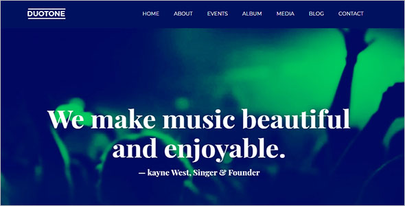 Music Webflow Website Template