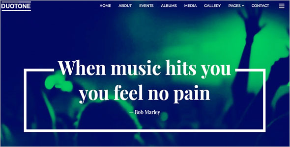 Musical Band Responsive Website Template