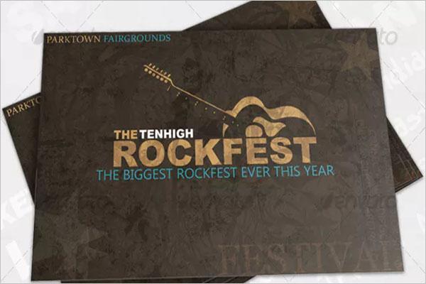 Musical Event Postcard Design