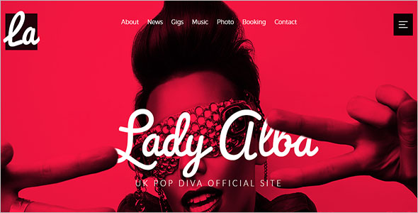 Musician Site Website Template
