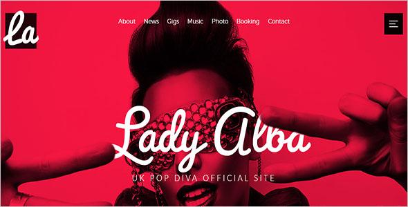 Musician Site Website Template