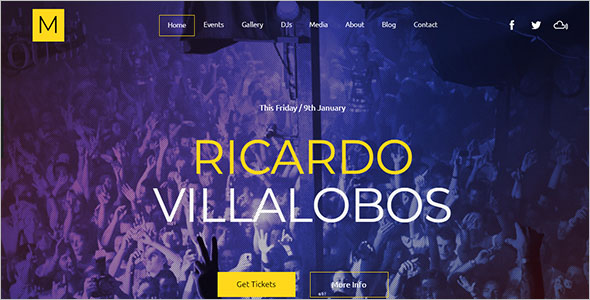Night Club Music Website Template