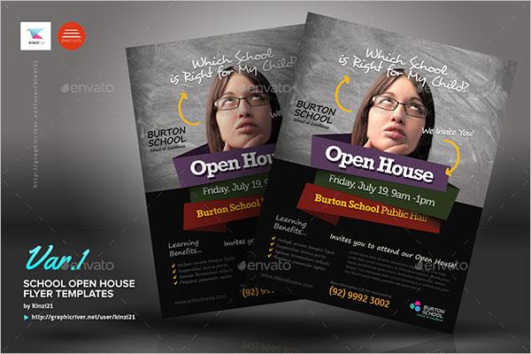 Open House Flyer for School