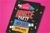 Open House Flyers Party Template