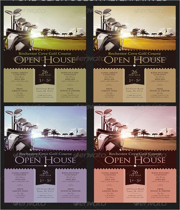 Open House Golf Course Flyer Design