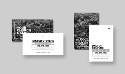 PSD Church Business Card Templates