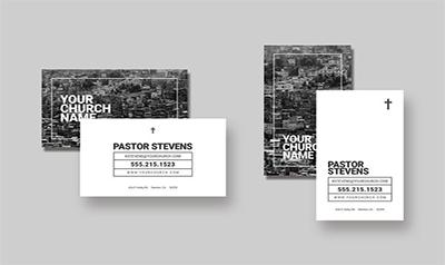 PSD Church Business Card Templates