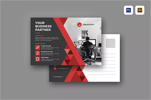 PSD Marketing Postcard Design