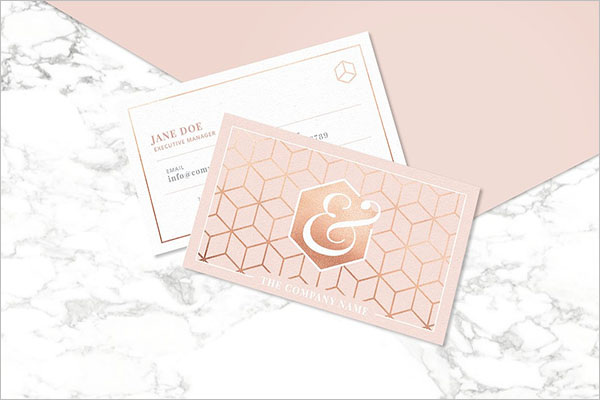 Perfect Rose Gold Business Cards