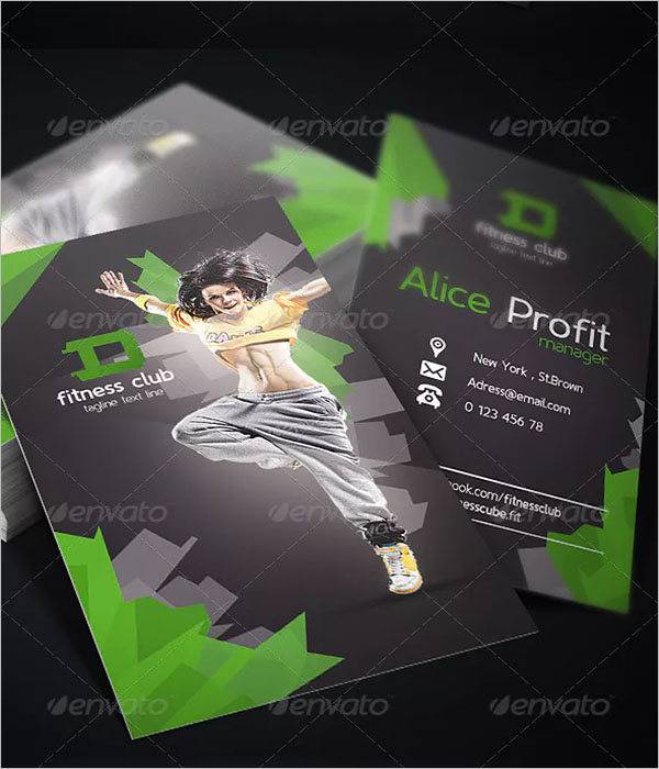 Personal Fitness Business Card Design Template