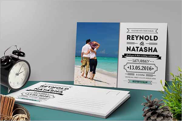 Personalized Holiday Postcard Design