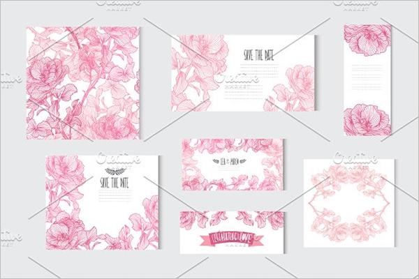 Pink Roses Floral Card