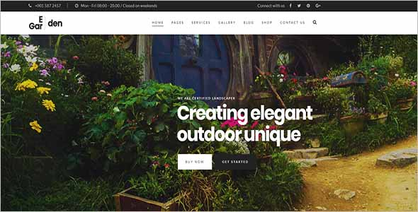 Plant Gardening Website Template1
