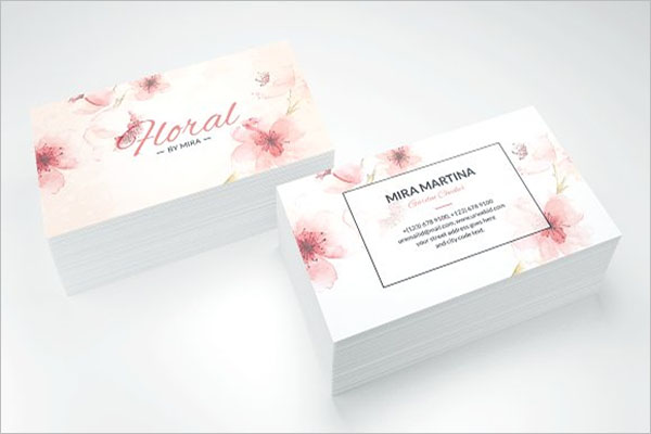 Rose Gold Business Cards Sample Designs Creativetemplate