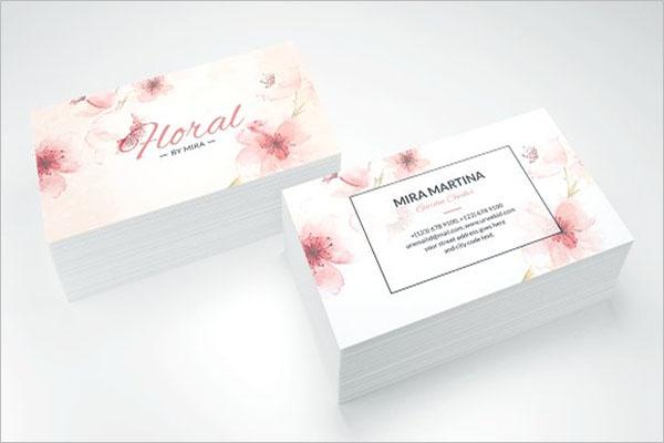 Portrait Rose Gold Business Card