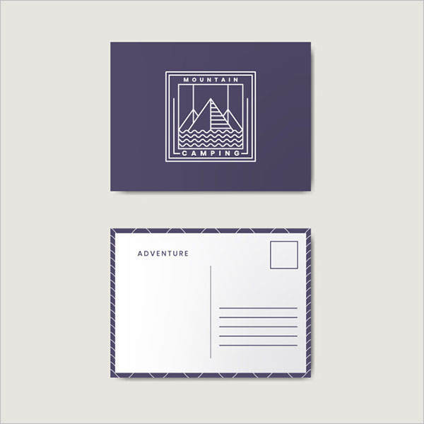 Postcard Marketing Design Free Vector