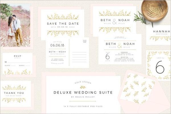 Postcard Wedding Invitation