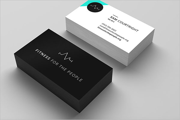 Premium Fitness Business Cards Design