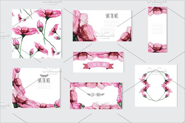 Premium Floral PostCard Vector Design