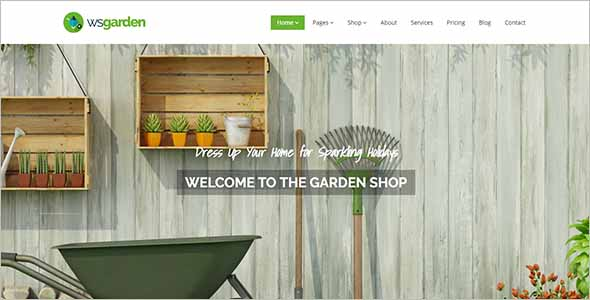 Premium Garden Website Template1