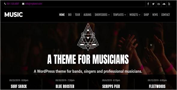 Premium Music Website Template