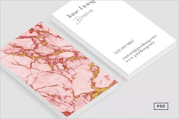 Premium Rose Gold Business Card