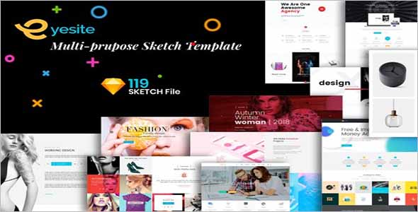 Premium Sketch Website Template