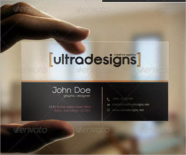 Premium Transparent Business Card