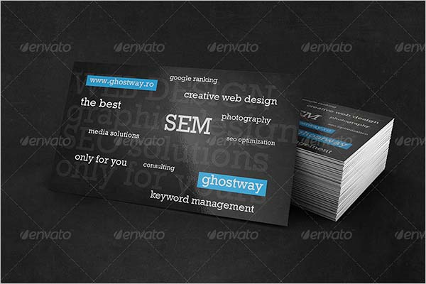 Printable Black Business Card Designs